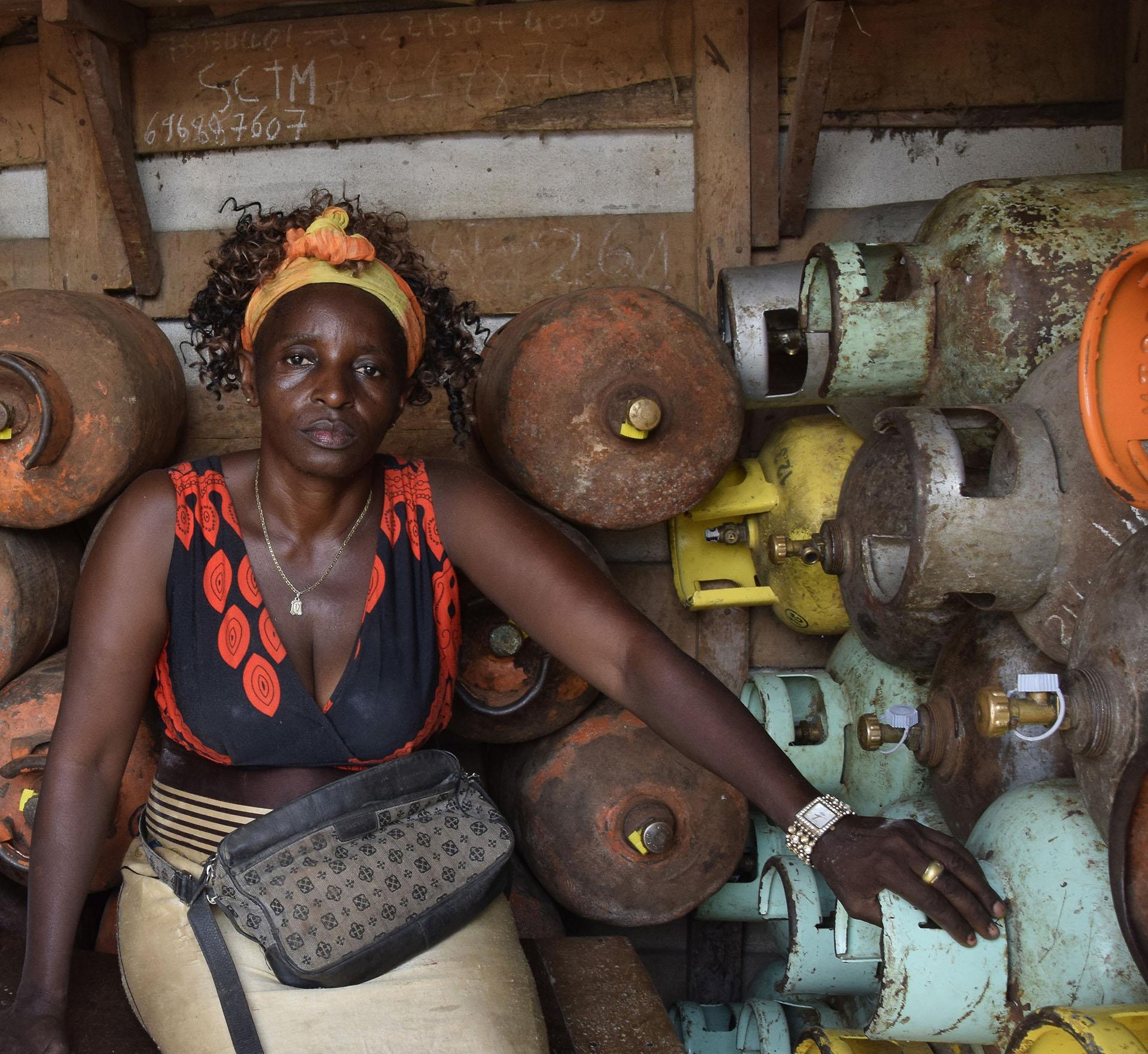 A LPG retail point in peri-urban Douala, Cameroon