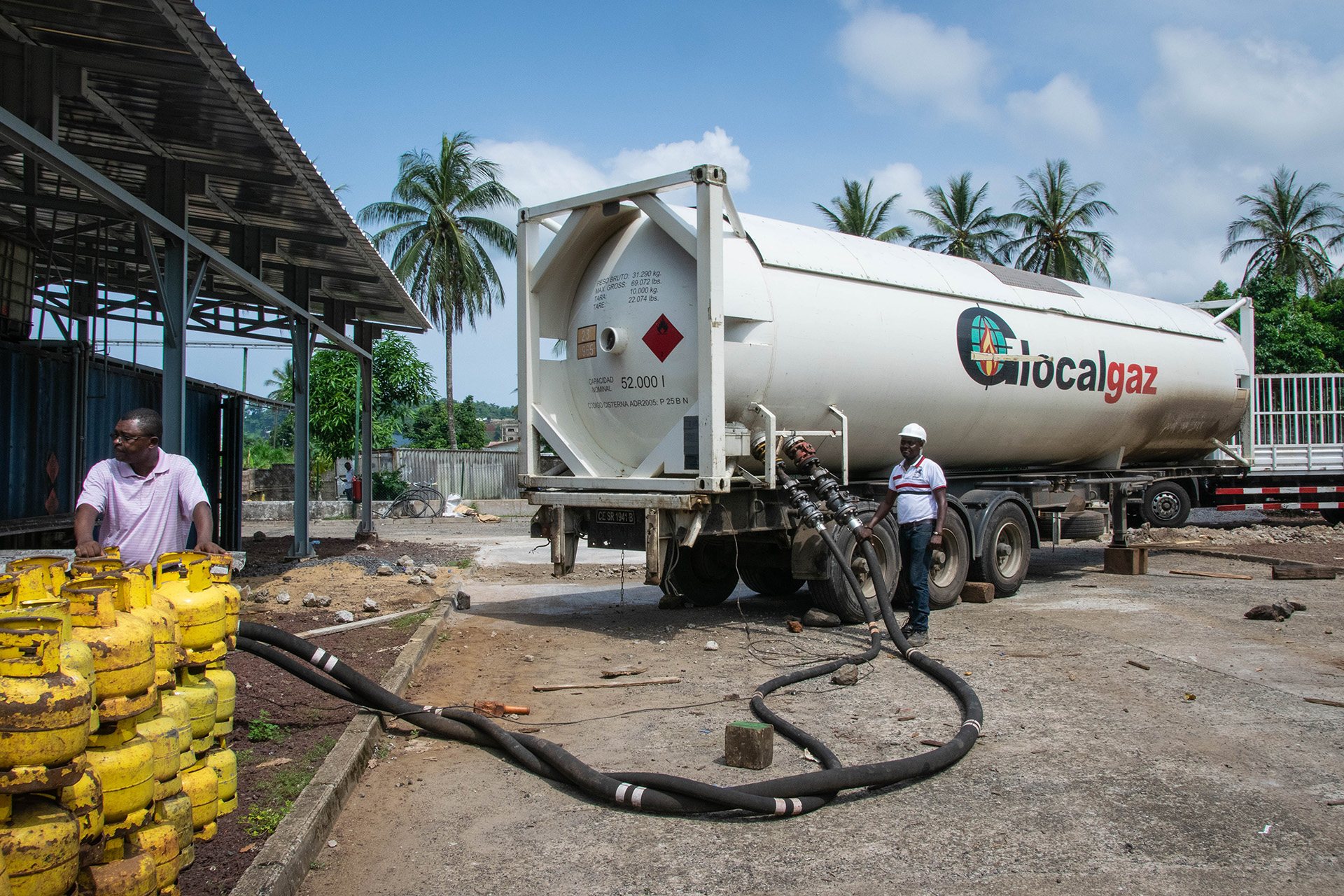 LPG tanker at the GlocalGaz filling plant, Limbe, Cameroon