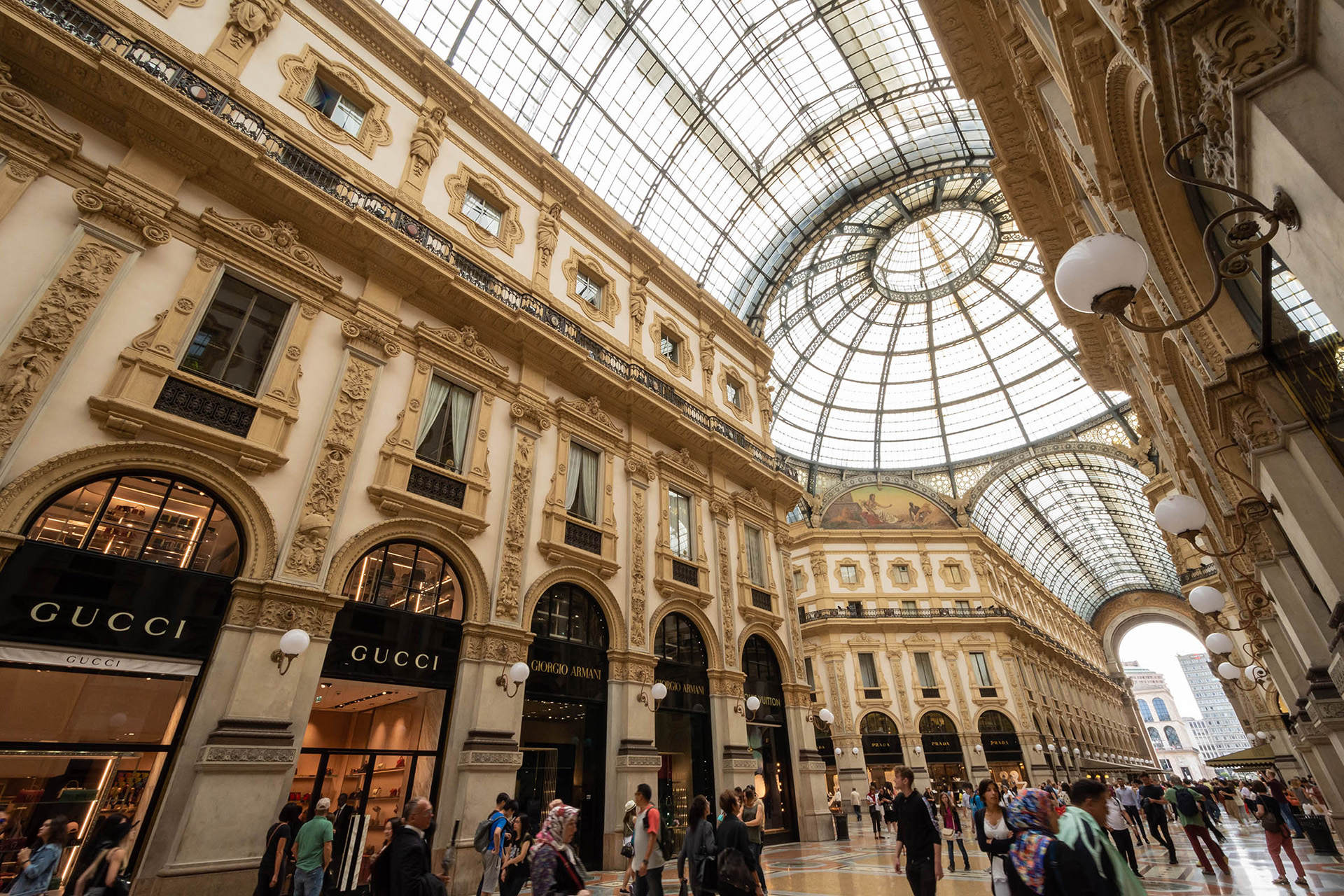 The 1877 Vittorio Emanuele II shopping arcade, now a temple to high fashion