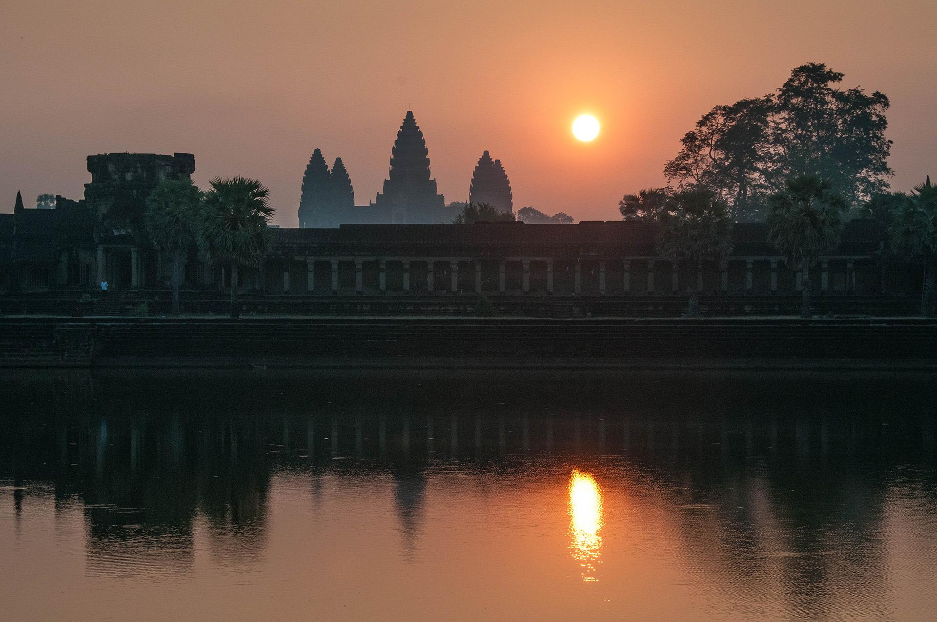 The Temple of Angkor Wat at Sunrise