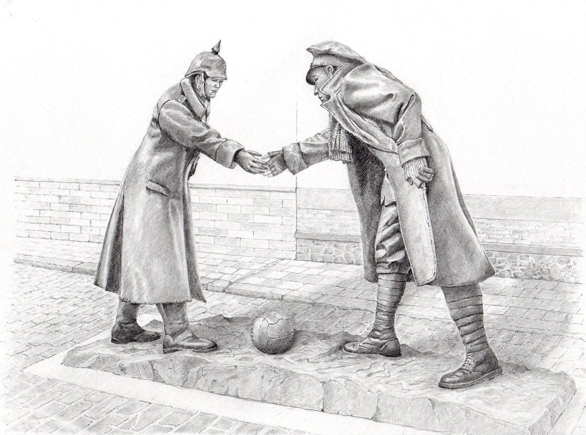 Christmas Truce memorial at Messines