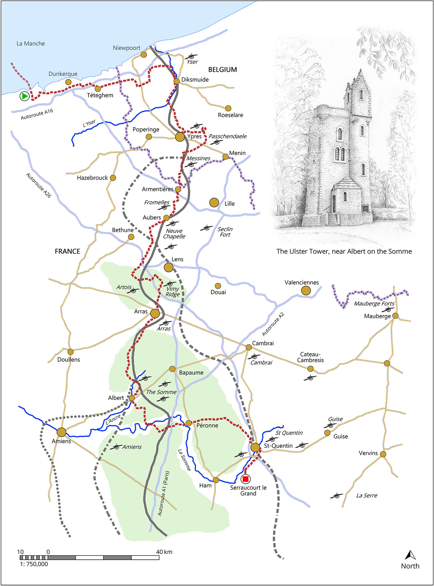 The first section of my ride along the Western Front, covering Flanders, Passchendaele, Arras and the Somme