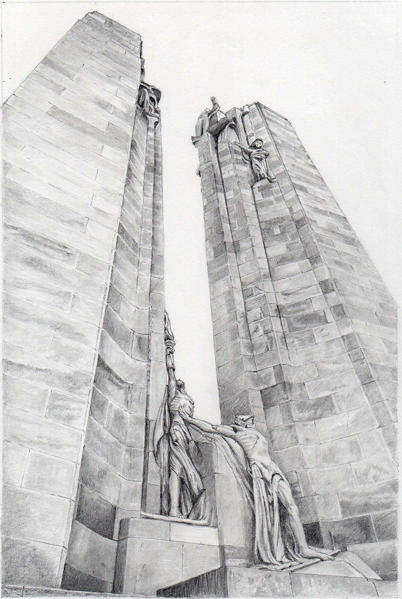 Canadian National Memorial at Vimy Ridge, designed by Walter Seymour Allward