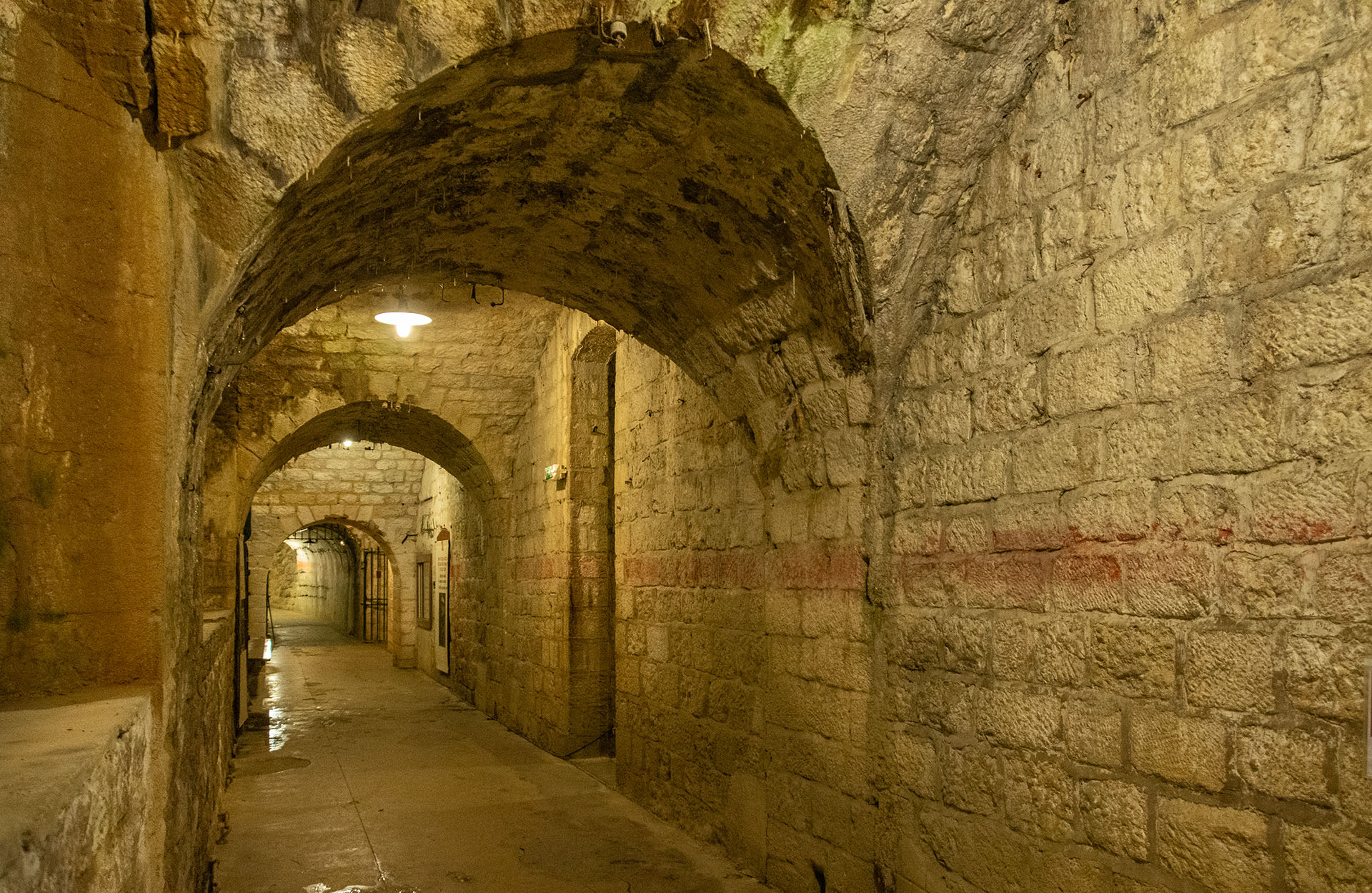 Deep inside the Fort de Vaux at Verdun, where a small French garrison were besieged by German troops, finally surrendering when water supplies ran out