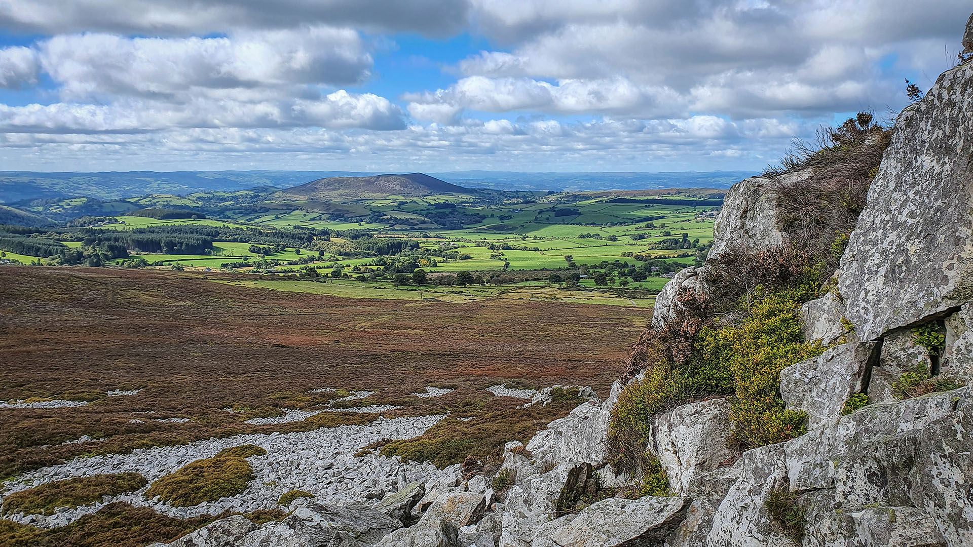 Geology of the Stiperstones - Ordovician Quartzite shattered during the last Ice Age leaving piles of scree below the rocky outcrops