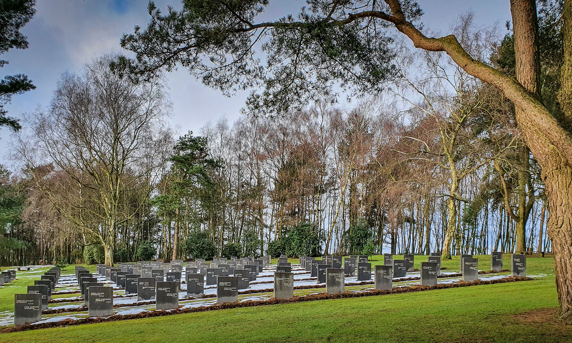 The Cannock Chase German Cemetery, established in 1959 as the burial ground for all German nationals dying on British soil in both world wars, and not buried in other sites