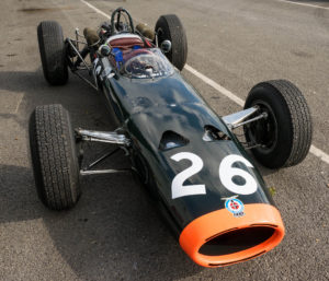 The elegant lines of a 1964 BRM P261/5 at the Oulton Park Gold Cup weekend