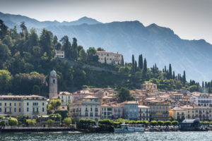 Approaching Bellagio on a morning ferry