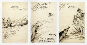 Some of the engaging and humorous sketches by Amelia Edwards from her travel in Egypt
