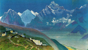 This 1924 painting of Mt Kilas in the Himalayas by Nicholas Roerich expresses the more spiritual aspects of travel that were important to him