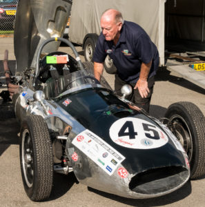 Pre-race checks for a 1958 Cooper T45 at the Oulton Park Gold Cup weekend