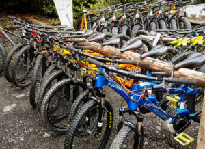 Bike rental is now a big summer business in the Alpine ski resorts, but e-bikes are becoming more and more popular