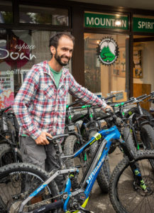 Thomas Moille, who runs Mountain Spirit Sports in Samoens, in the Haute Savoie of France. E-bikes now make up most of the rental business.